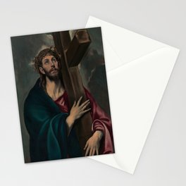 El Greco - Christ Carrying the Cross 1577 Stationery Cards