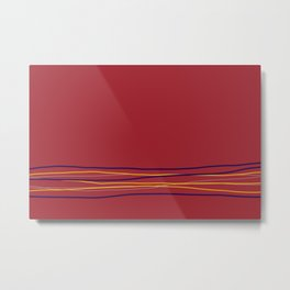 Multi Colored Scribble Line Design Bottom V3 Rustoleum 2021 Color of the Year Satin Paprika & Accent Metal Print