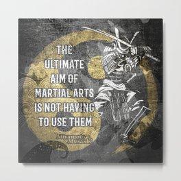 Miyamoto Musashi Samurai Martial arts Wisdom Metal Print