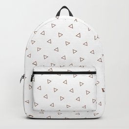 Brown seamless geometric pattern triangles Backpack