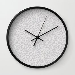 Snow Leopard Print Wall Clock