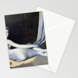 Odalisque in Grisaille - Jean-Auguste-Dominique Ingres Stationery Cards