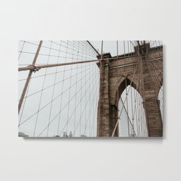Brooklyn Bridge close up | Colourful Travel Photography | New York City, America (USA) Metal Print