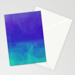 Blue and Green Dyeing with texture background Stationery Cards