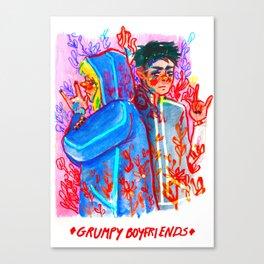 Grumpy Boyfriends Canvas Print