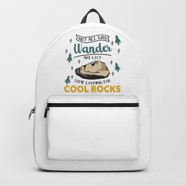 Geologist Rock Collecting Minerals Geology Backpack