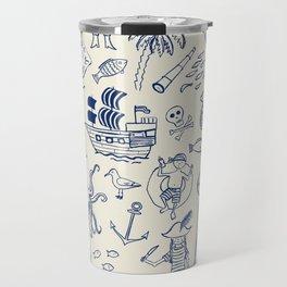 Pirate Play - Cream Travel Mug