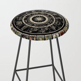 The Major Arcana & The Wheel of the Zodiac Bar Stool