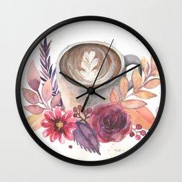 Autumn Latte Wall Clock