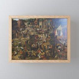 Pieter Brueghel the Younger - festa paesana Framed Mini Art Print