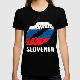 SVN Slovenia Kiss Lips Tshirt T-shirt