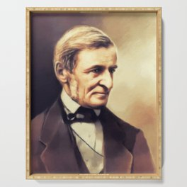 Ralph Waldo Emerson, Literary Legend Serving Tray
