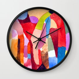 Paul Klee Movement of Vaulted Chambers Wall Clock