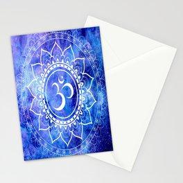 Om Mandala Blue Lavender Galaxy Stationery Cards