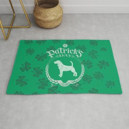 St. Patrick's Day Beagle Funny Gifts for Dog Lovers Rug