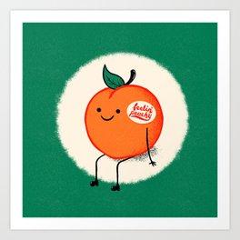 Feelin' Peachy Art Print