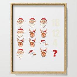 Rudolph Santa Snowman Merry Christmas Design For December 25th T-shirt Design Jesus Birthday Carol Serving Tray