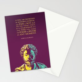 Marcus Aurelius Inspirational Stoic Quote: The Power to Revoke Stationery Cards