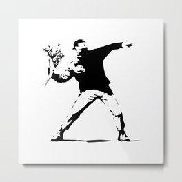Rage, Flower Thrower - Banksy Metal Print