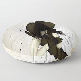 girl in the hat Floor Pillow