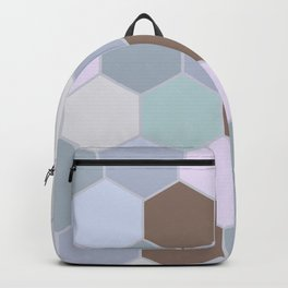 Violet pastel shades hive Backpack