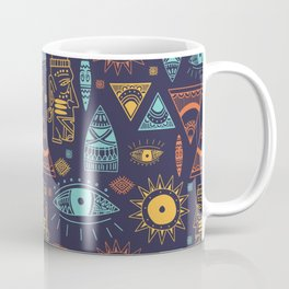 Maya Tribal Ethnic Pattern Coffee Mug
