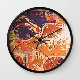 Jubilation- Colorful Abstract Collage Wall Clock