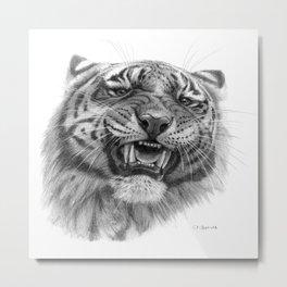 Tiger roar  G082 Metal Print