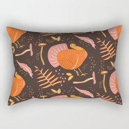 Thanksgiving Turkey Pattern Rectangular Pillow