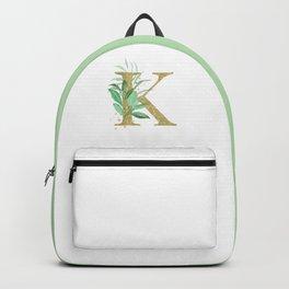 Letter K Monogram Backpack