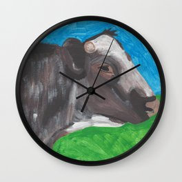 Red Roan Cow Wall Clock