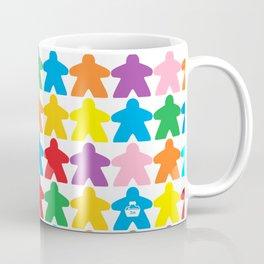 Multicolored Meeples by Blackburn Ink Coffee Mug