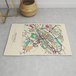 Colorful City Maps: Knoxville, Tennessee Rug
