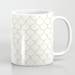 Mermaid Scales in Gold Coffee Mug