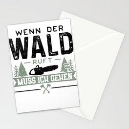 Wenn Der Wald Ruft Muss Ich Gehen Stationery Cards