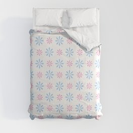 geometric flower 87 blue and pink Comforters