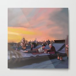 An Atypical Morning Breakfast Metal Print
