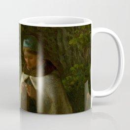 "Jean-François Millet ""Shepherdess Seated on a Rock"" Coffee Mug"