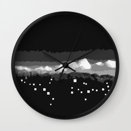 Cloudy city night Wall Clock