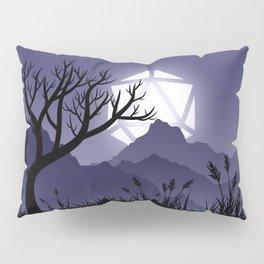 Scary Night Halloween D20 Dice Moon Dead Tree Tabletop RPG Landscape Pillow Sham