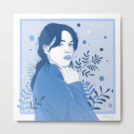 Not Sad, Just Blue Metal Print