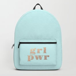 GRL PWR - rose gold Backpack