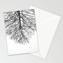 Upside down tree Stationery Cards