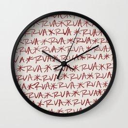 RVA Red on Cream  Wall Clock