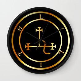 Sigil of Lilith- Female demon Lilith symbol in gold Wall Clock