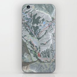 Alta Ski Resort Trail Map iPhone Skin