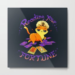 Reading Your Fortune Metal Print