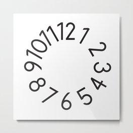 Cut numbers white Metal Print