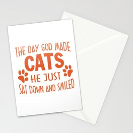 GOD MADE CATS Stationery Cards