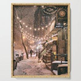 Snow - New York City - East Village Serving Tray